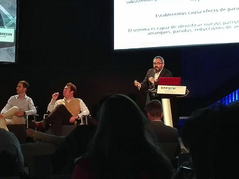 David Fuster durante su ponencia durante BIEHM 2018